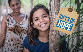 Give a charity gift of hope.